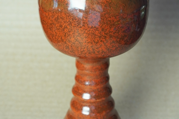 Manly Rustic Rust Red Handmade Pottery Goblet