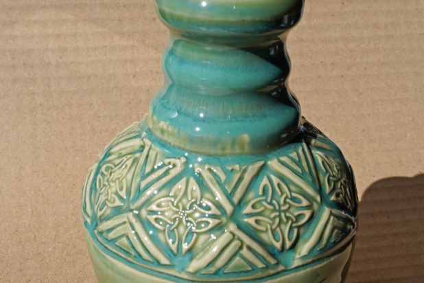 Turquoie Green Celtic Lotion Bottle