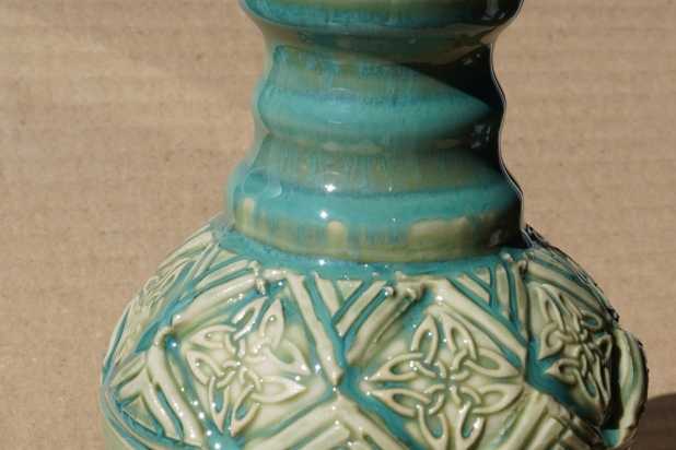 Turquoise Green Celtic Lotion Bottle