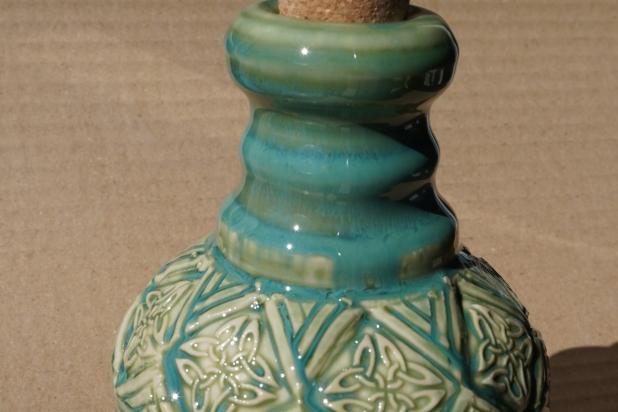 Turuoise Green Celtic Lotion Bottle