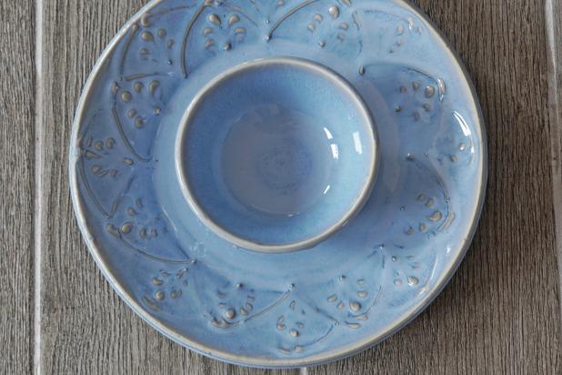 Handmade Sky Blue Chip and Dip