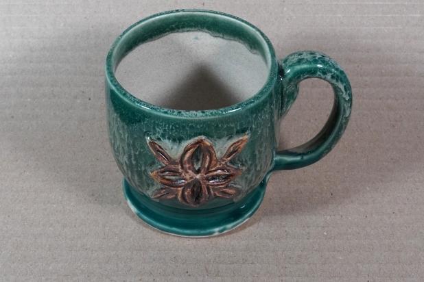 Forest Green Medieval Fleur-de-Lis Coffee Mug