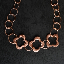 Hand forged Medievel Style Copper Clover Necklace