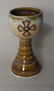 Handmade Rustic Crusader  Pottery Goblet