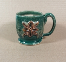 Forest Green Medieval Fleur-de-Lis Coffee Mug