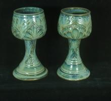Carved Stoneware Goblet